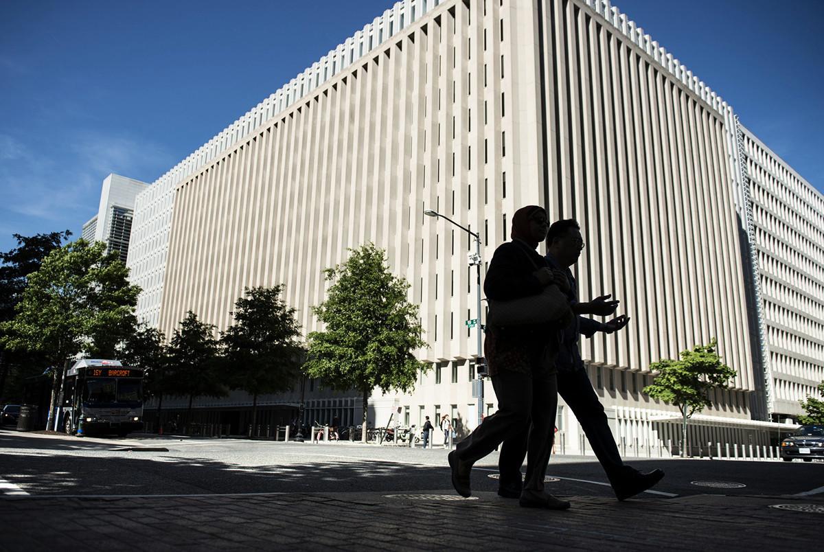 世界銀行位於華盛頓DC的總部大樓。(Brendan Smialowski/Getty Images)