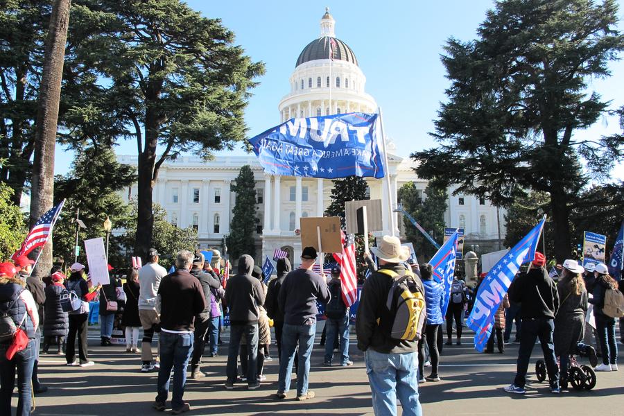 反對竊選 北加州多地舉行集會活動