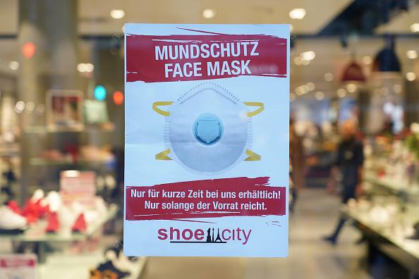 中共肺炎在德國蔓延,口罩也變得緊俏了。(Sean Gallup/Getty Images)