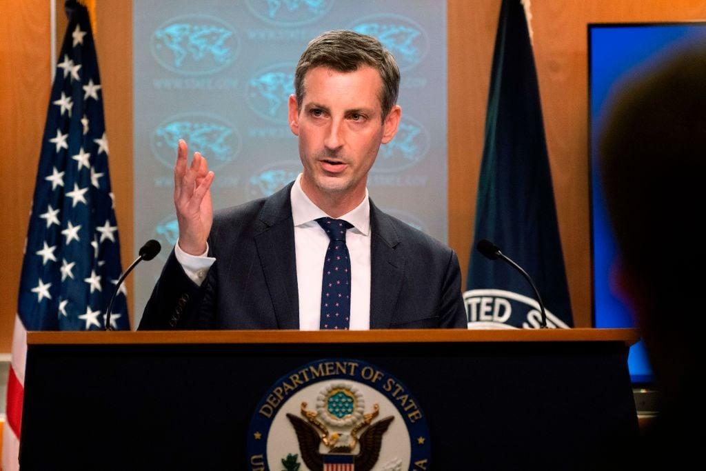 圖為美國國務院發言人內德.普賴斯(Ned Price)。(Manuel Balce Ceneta/POOL/AFP)