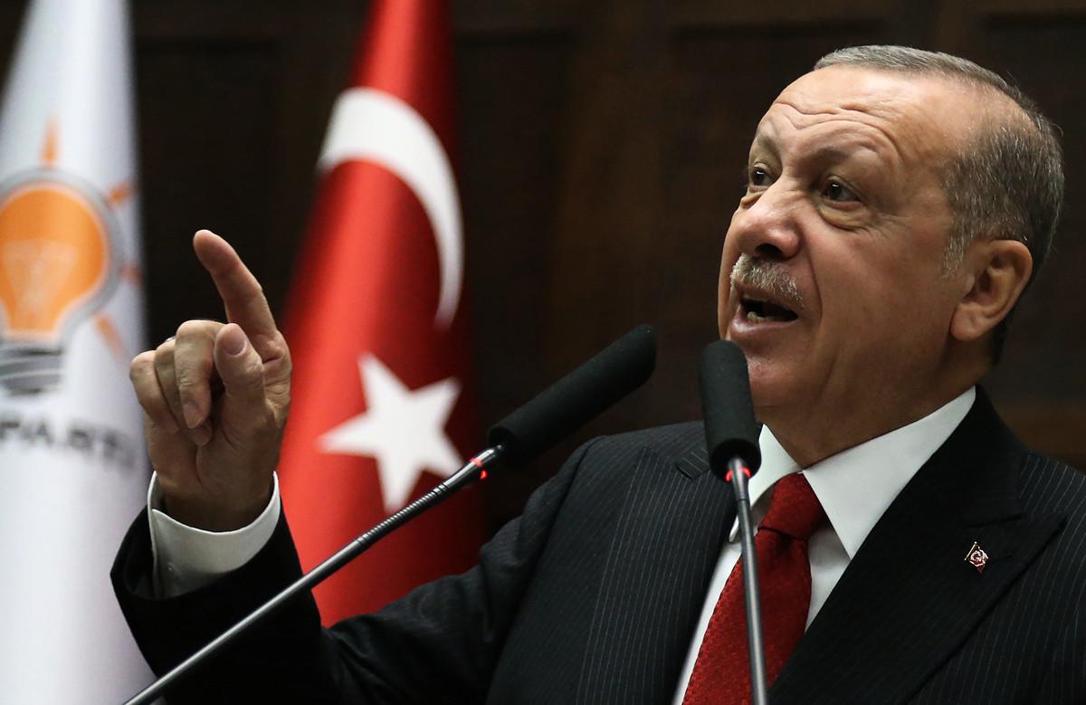 圖為土耳其總統雷傑普·塔伊普·埃爾多安(Recep Tayyip Erdogan)。(Adem ALTAN / AFP)