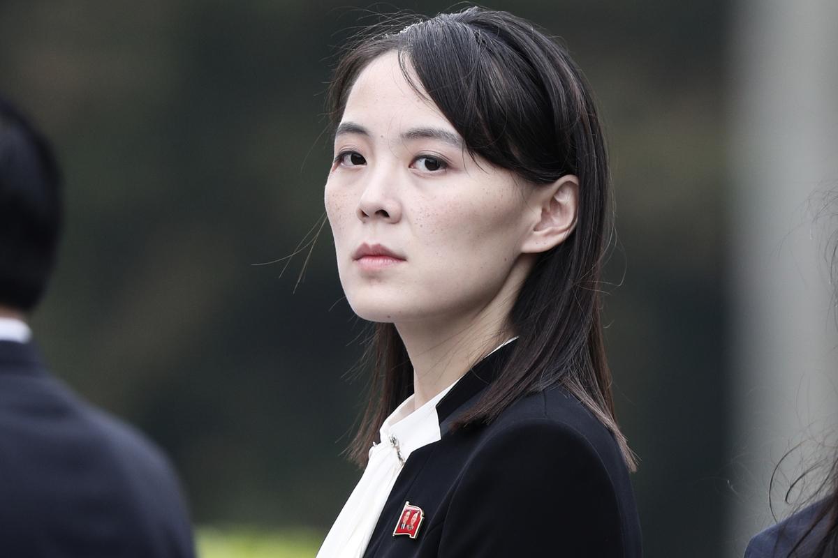 圖為北韓領導人金正恩的妹妹金與正。(JORGE SILVA/AFP via Getty Images)
