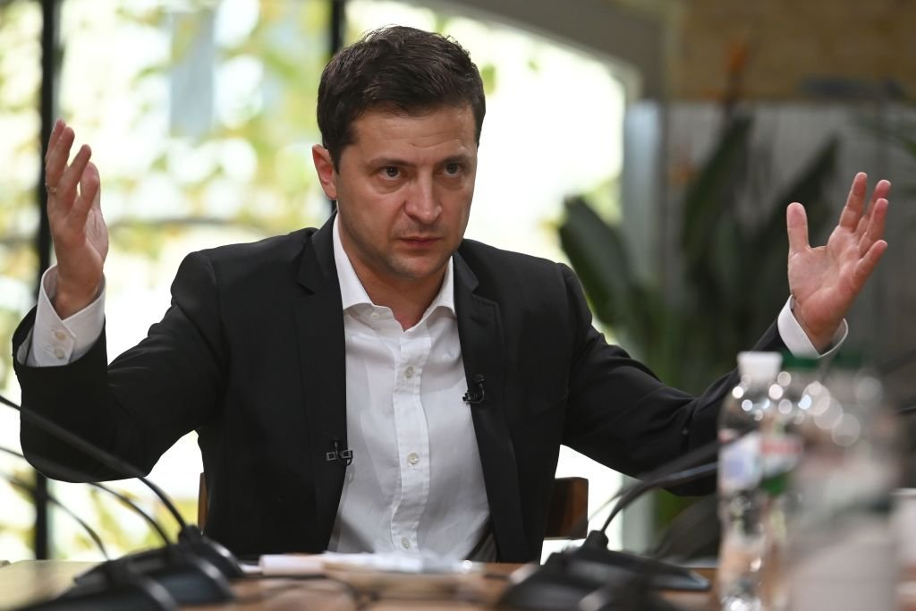 圖為烏克蘭總統沃洛德米爾・澤倫斯基(Volodymyr Zelensky)。(GENYA SAVILOV/AFP/Getty Images)