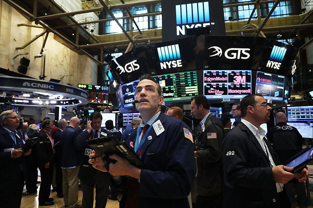 美國會參議員馬可·魯比奧表示,如果中國公司無法遵守《聯邦證券法》,應該將其從美國證券交易所摘牌。圖為紐約證券交易所。(Spencer Platt/Getty Images)