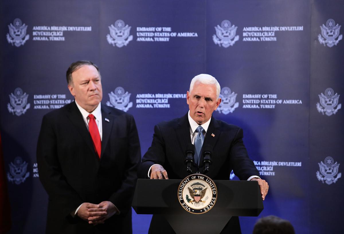 特朗普政府兩名高官副總統彭斯(Mike Pence)和國務卿蓬佩奧(Michael R. Pompeo)接連發表演講,一一破解了中共的邪說。(Stringer/Getty Images)