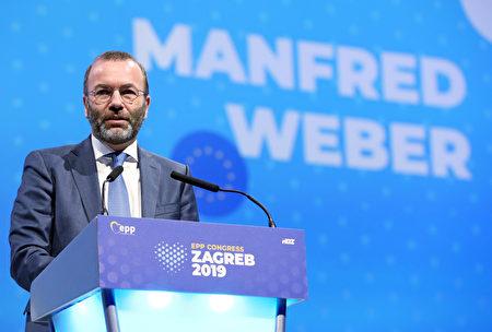 歐洲議會最大黨團人民黨主席韋柏(Manfred Weber)。( DAMIR SENCAR/AFP via Getty Images)