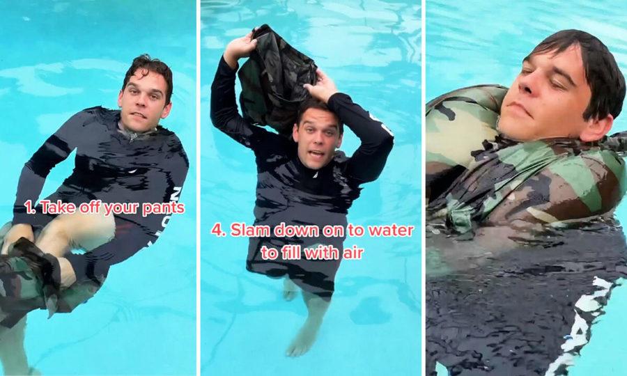 前海軍陸戰隊員拍教學影片 不懂游泳者墮海後如何自救