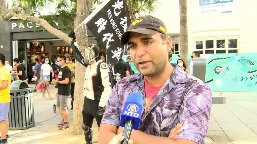洛杉磯伊朗裔遊客:聲援香港 防止中共擴張