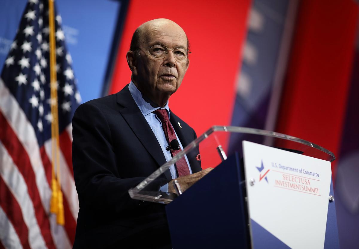 美國商務部長羅斯11月2日在霍士上發文,重申特朗普政府致力於將印太戰略願景變成現實。(Win McNamee/Getty Images)