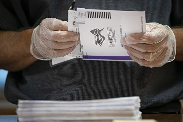 民主黨以中共病毒為由,大範圍實行郵寄選票。圖為示意圖。(Drew Angerer/Getty Images)
