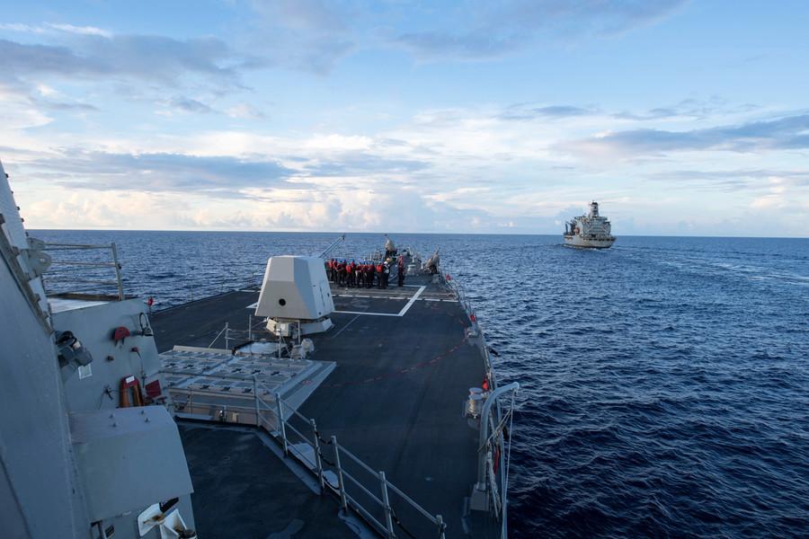 美軍證實美加軍艦聯合通過台灣海峽