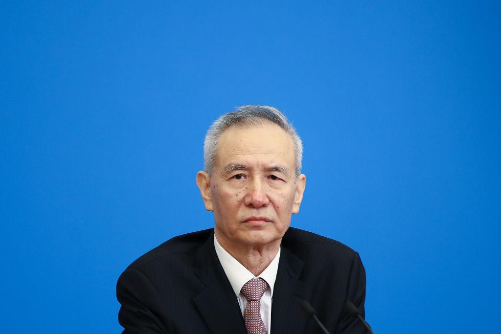 香港《南華早報》11月13日報道,中共副總理劉鶴預計很快將訪美,為兩國元首在G20峰會上的會晤鋪平道路。(Lintao Zhang/Getty Images)