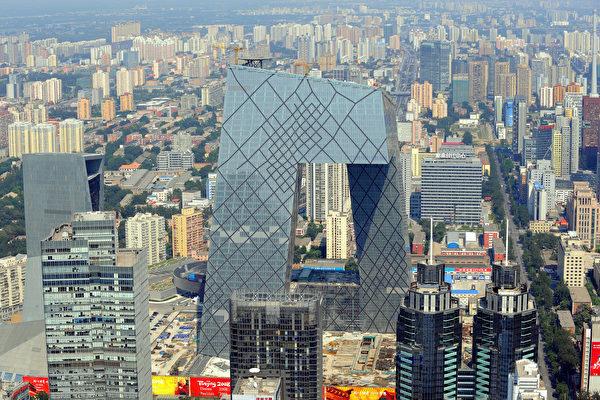 央視大樓,CGTN是中共央視大外宣。(GOH CHAI HIN/AFP/Getty Images)