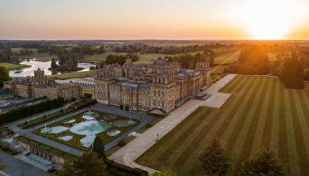 空中俯看位於英國牛津郡(Oxfordshire)的布倫海姆宮(Blenheim Palace)。(布倫海姆宮提供/Blenheim Palace)