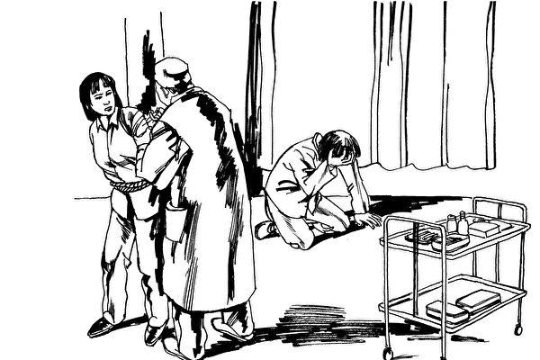 中共酷刑示意圖:注射藥物迫害。(明慧網)