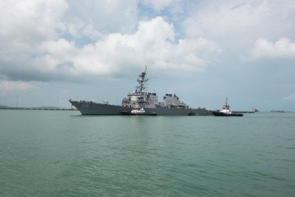 美軍「約翰‧S‧麥凱恩號」驅逐艦(USS John S. McCain)資料照。 (U.S. Navy via Getty Images)