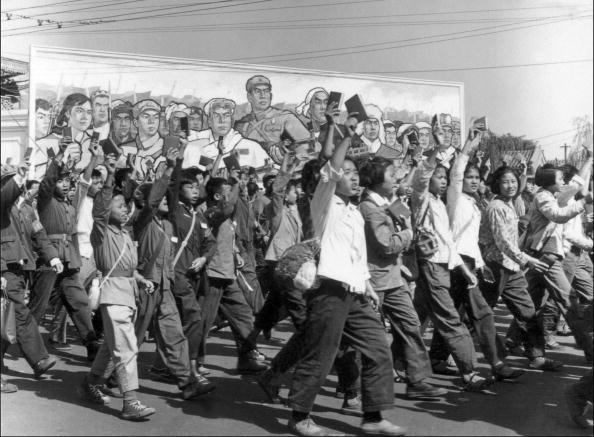 北京1966年文化大革命時紅衛兵人潮。(AFP/Getty Images)