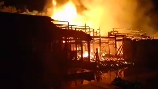 【現場影片】溫州三百多年的司馬第大屋著火
