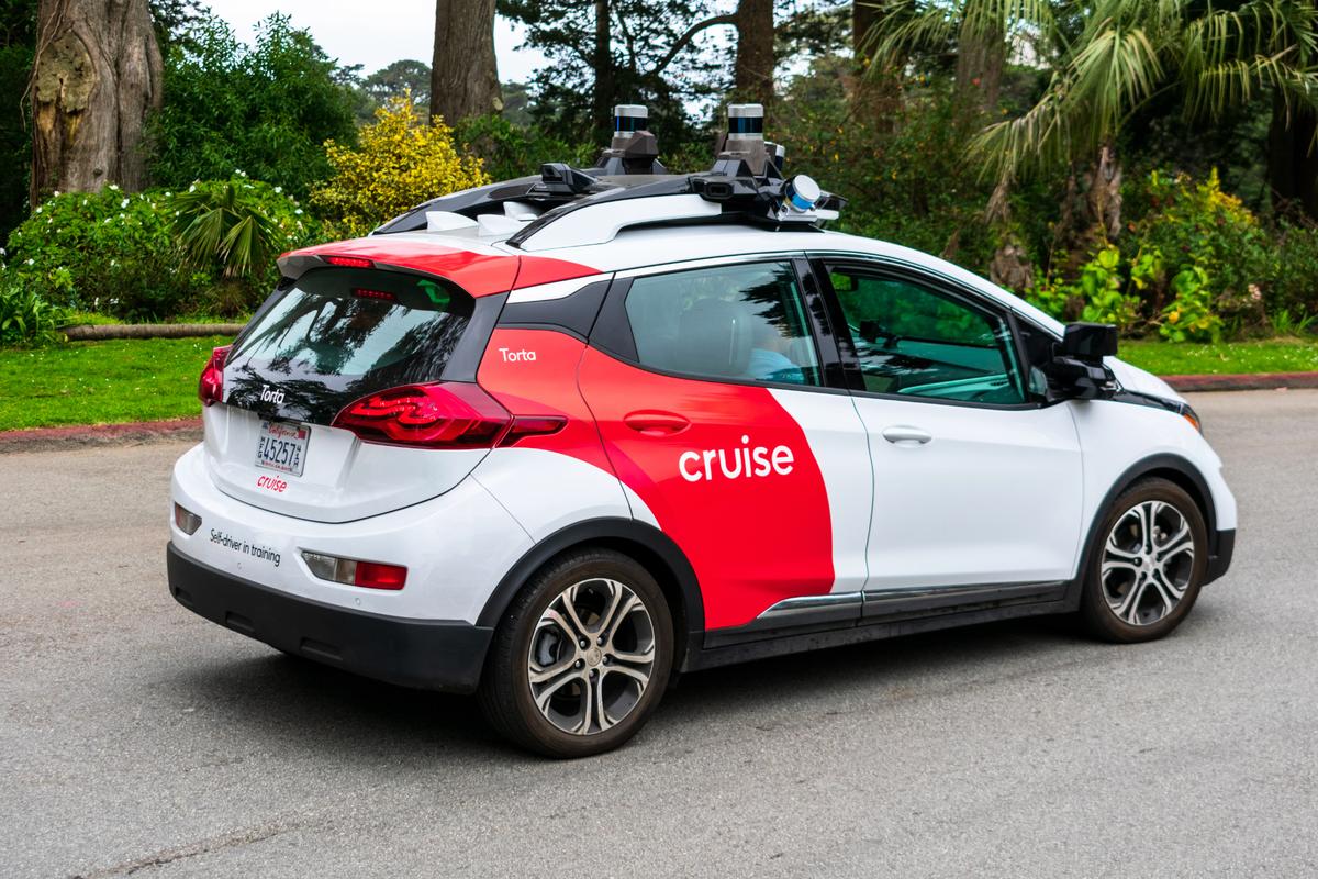 無人駕駛公司克魯斯(Cruise)的汽車在三藩市行駛。(Shutterstock)