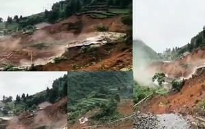 【影片】湖南現大型山泥傾瀉 瞬間吞噬民宅