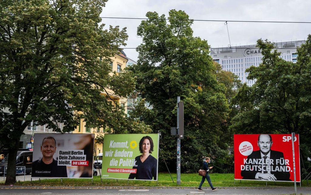 德國9月26日將進行大選,德國和國際非政府組織促使各政黨對中國(中共)政策明確表態。 (JOHN MACDOUGALL/AFP via Getty Images)