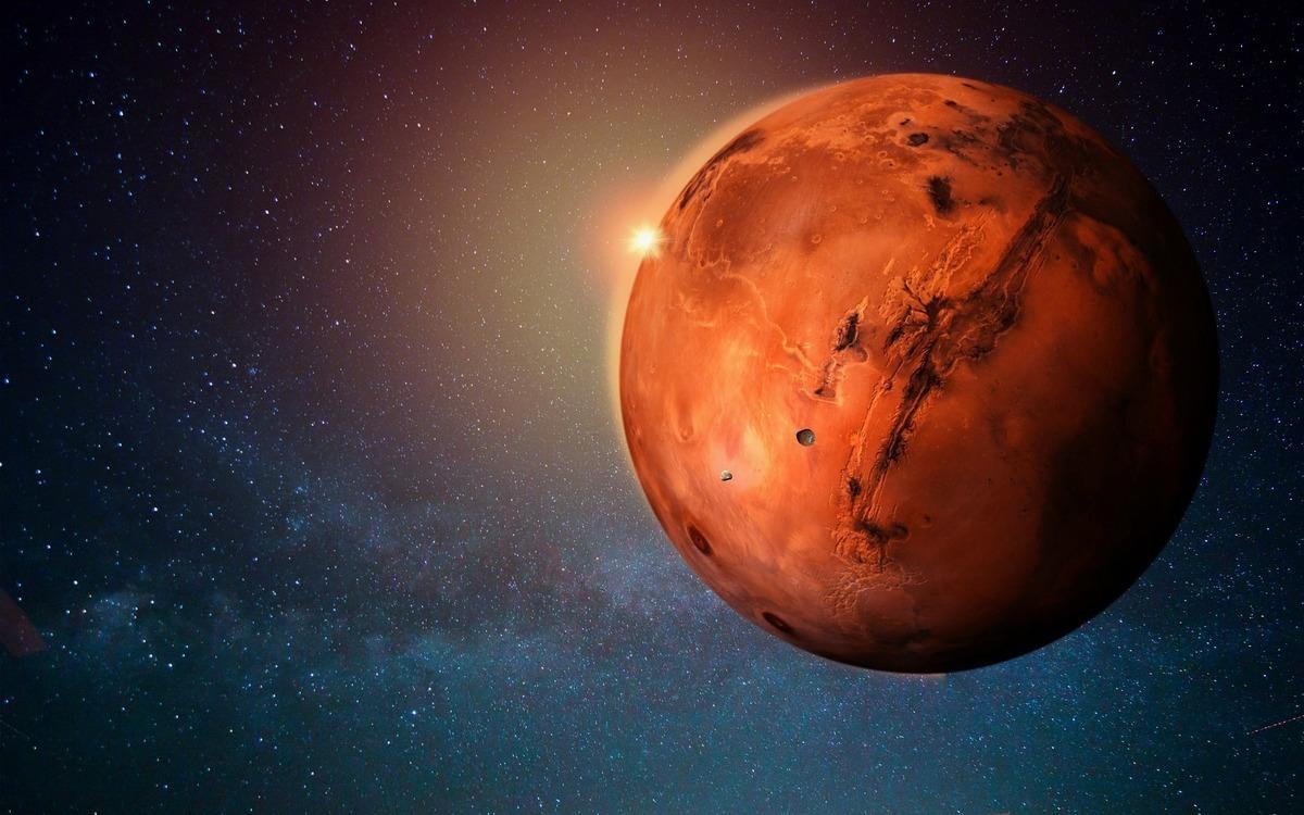 美國中央情報局的一份解密文件顯示,該局在1984年可能藉由靈魂投射(astral projection)的方法來觀測火星上的古代生命。此為火星的示意圖。(Pixabay)