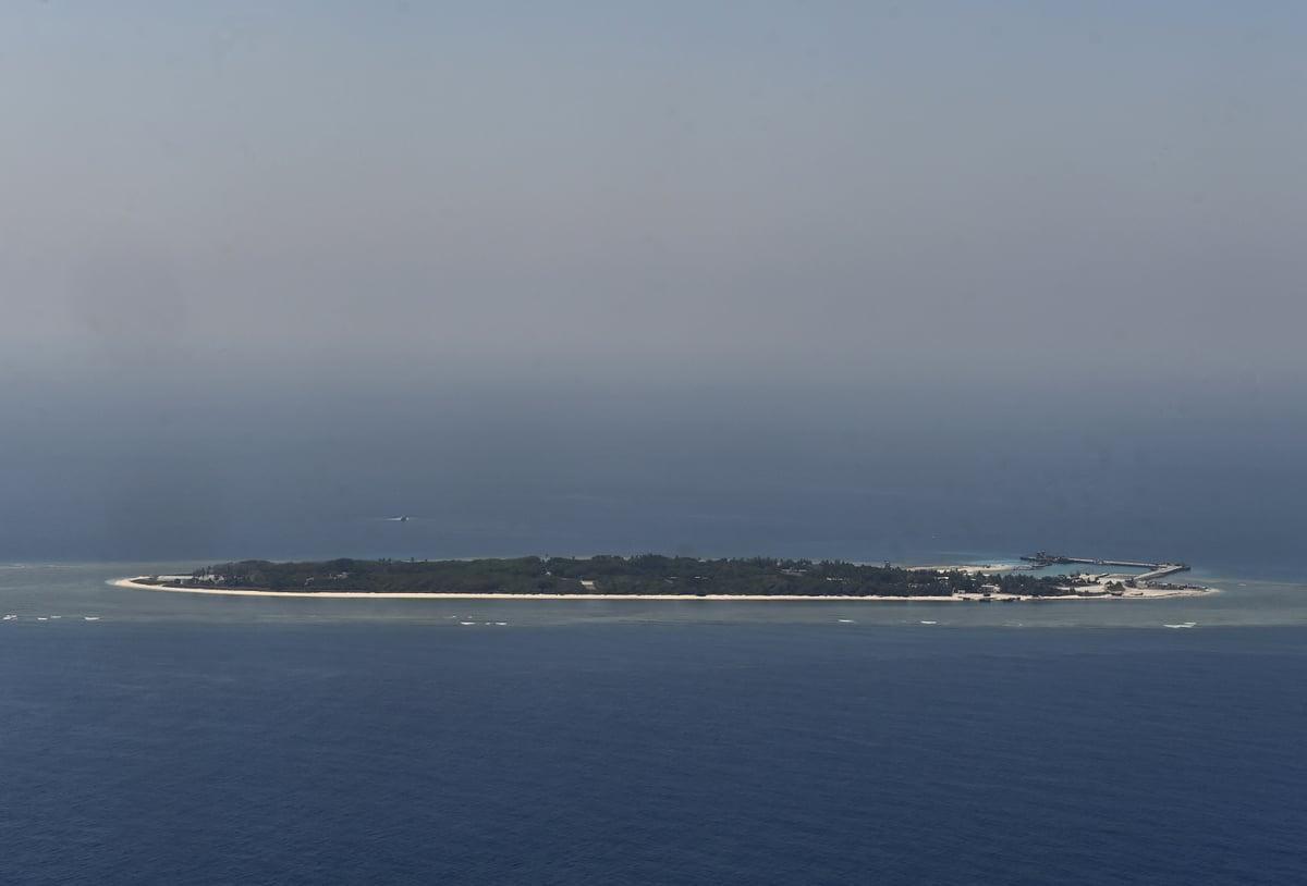 中華民國國防部長邱國正2021年3月17日表示,中共「有能力」發動攻擊,並希望太平島「隨時做好準備」。圖為太平島(又被稱為伊圖阿巴島)。(AFP)