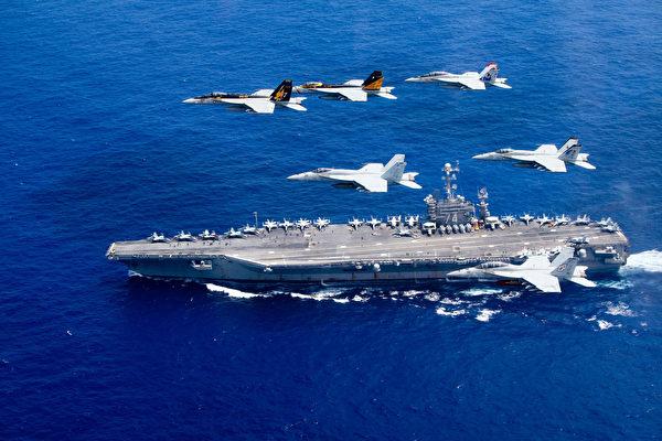 圖為美國航母。 (Lt. Steve Smith/U.S. Navy via Getty Images)