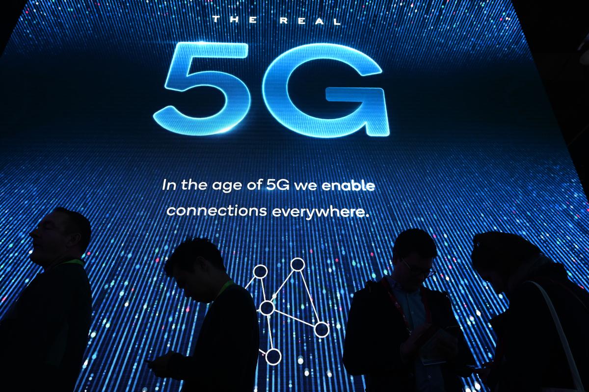 日前,德國政府提出對使用華為5G技術的相關限制。圖為示意照。 (AFP)