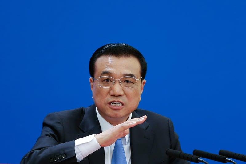 9月17日,李克強主持中共國務院會議,高調支持民營企業,還提出國有企業改革,再次被黨媒噤聲。圖為2015年3月15日,李克強在第12屆全國人大結束後的新聞發佈會上講話。(Lintao Zhang/Getty Images)