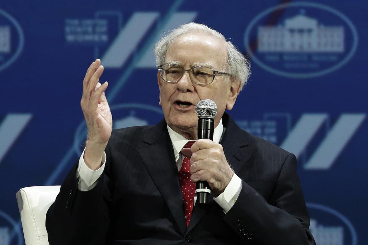 圖為美國超級富豪沃倫‧巴菲特(Warren Buffett)。 (AFP)