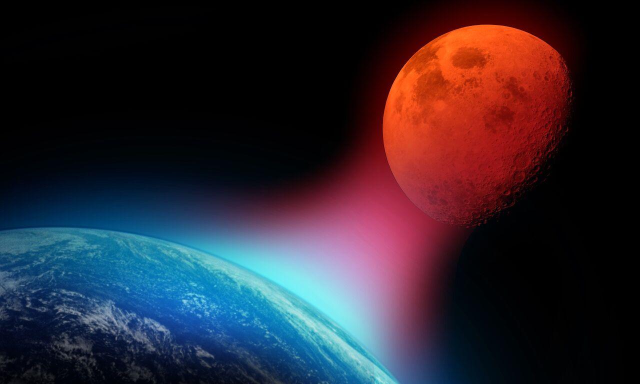 東部標準時間(EST)1月21日凌晨12點12分,美國的天文愛好者們將能看到一次「超級血狼月」。(ShutterStock)