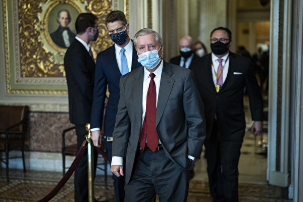 參議員格雷厄姆表示,特朗普將幫助重建共和黨。(Photo by Jabin Botsford - Pool/Getty Images)