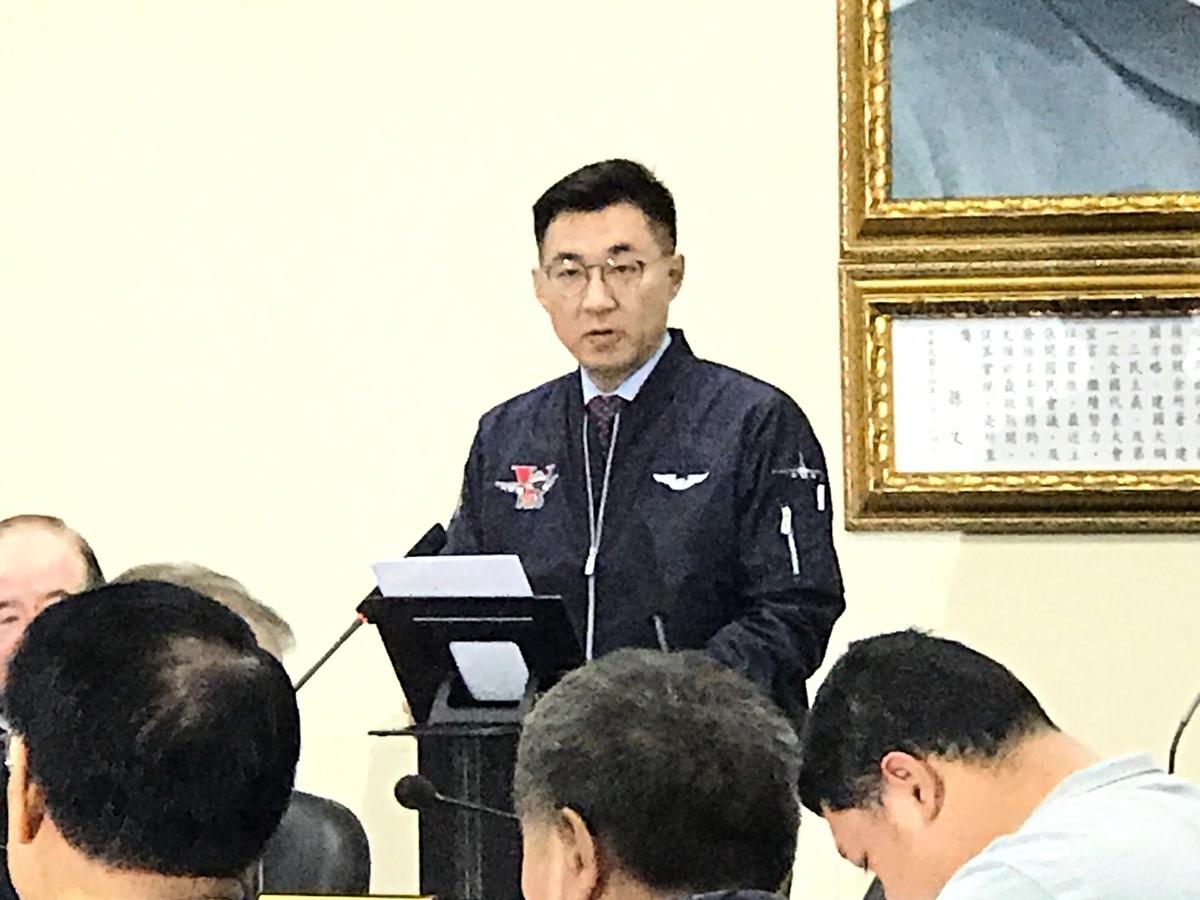 面對韓國瑜被罷免通過,國民黨主席江啟臣2020年6月6日聲明,尊重結果,接下來積極尋覓補選人選。(李怡欣/大紀元)