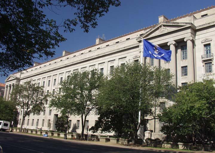 圖為華盛頓DC美國司法部。(奚望/大紀元)