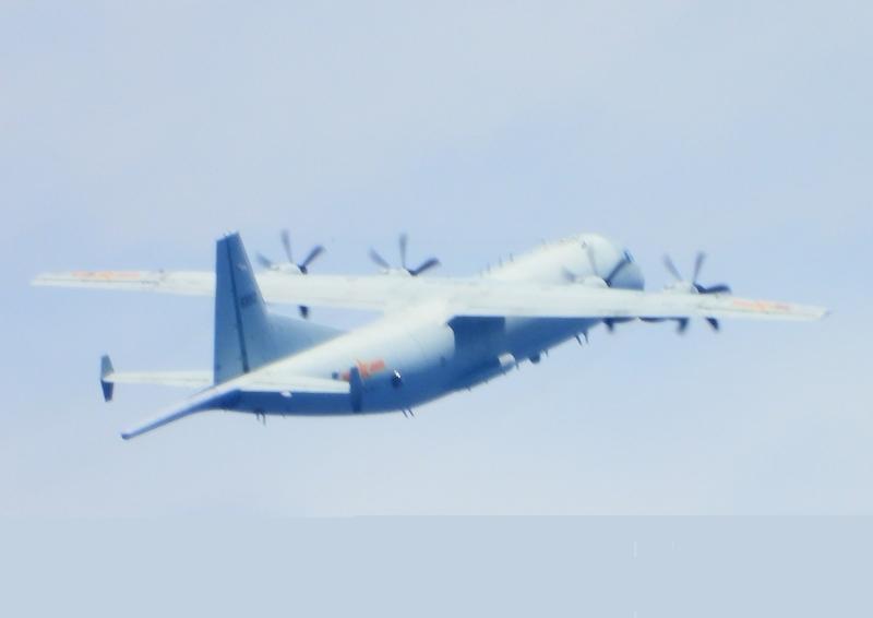 中共2架運-8反潛機9月23日侵犯台灣西南防空識別區(ADIZ)。(台灣國防部提供)