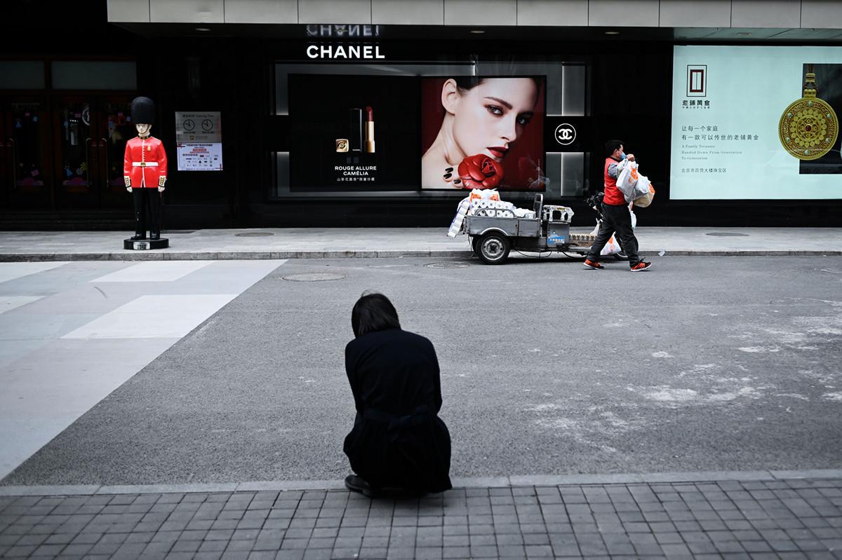大陸經濟主要依賴經濟刺激措施,但不可持續。(WANG ZHAO/AFP via Getty Images)