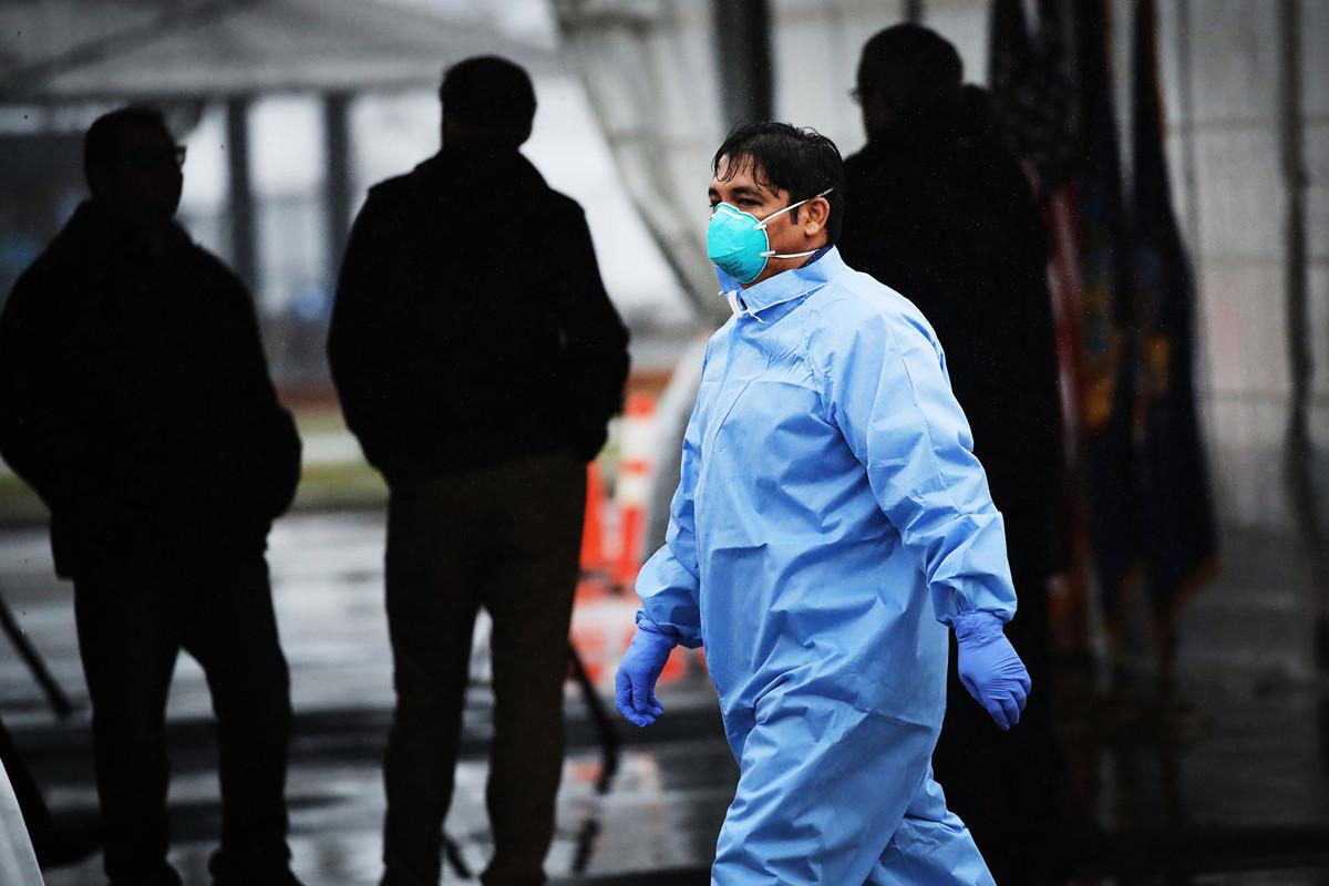 中共病毒患者若復陽,有三種可能性。(Spencer Platt/Getty Images)