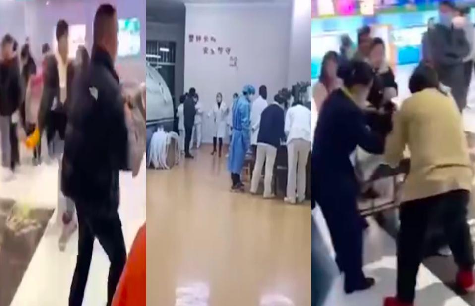 2月17日大年初六,浙江省東陽市一電影院至少有63人在觀影時出現頭暈、嘔吐等症狀。官方稱是一氧化碳中毒所致。(影片截圖合成)