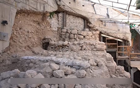 古城牆遺蹟。(由大衛市的Yaniv Berman拍攝,以色列文物局提供)