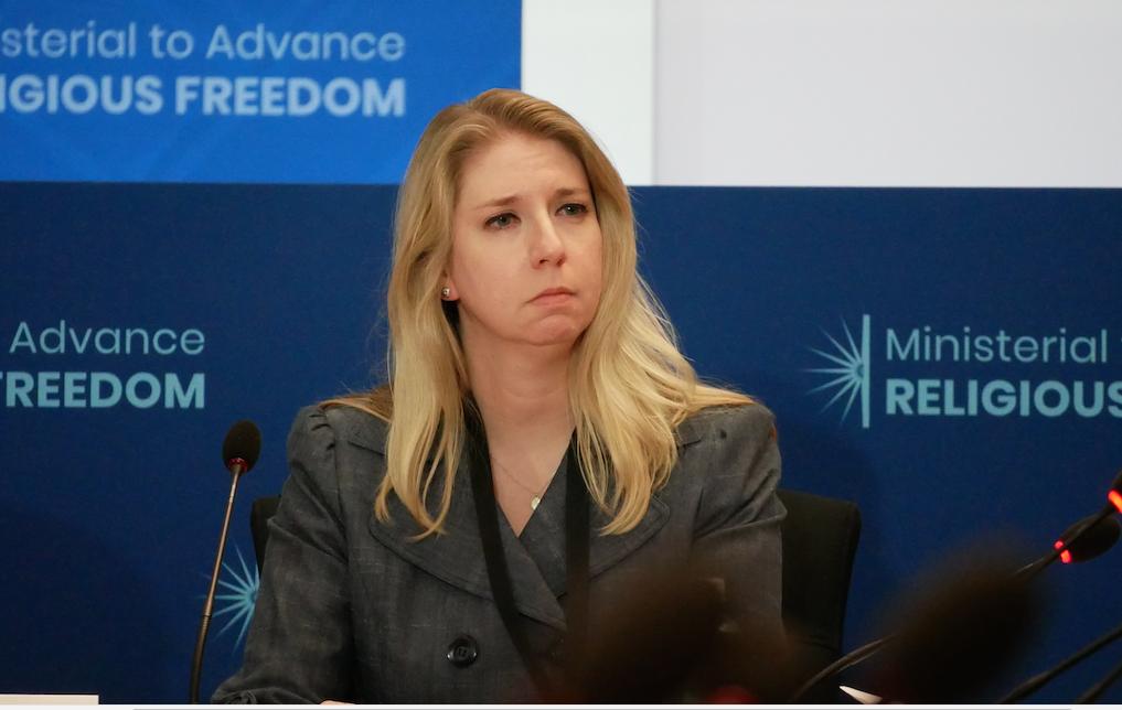 美國國際宗教自由委員會(USCIRF )的研究與政策副主任瑪弗德(Tina Mufford)。(李辰/大紀元)