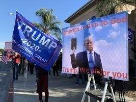 加州華人挺特朗普:站在神引導的正義一方