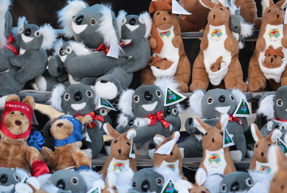 澳洲商店出售的毛絨玩具示意圖,與新聞內容無關。(Scott Barbour/Getty Images)