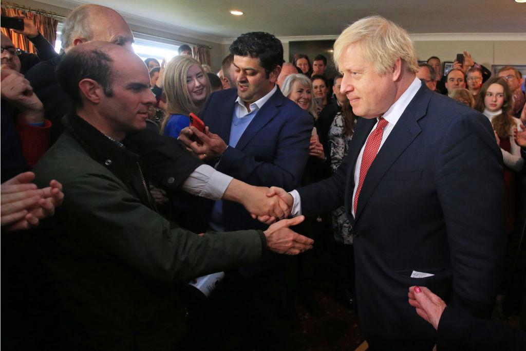 2019年12月14日,英國首相約翰遜訪問英格蘭北部進行「謝票」,這裏曾經是工黨多年的勢力範圍。(Lindsey Parnaby-WPA Pool/Getty Images)