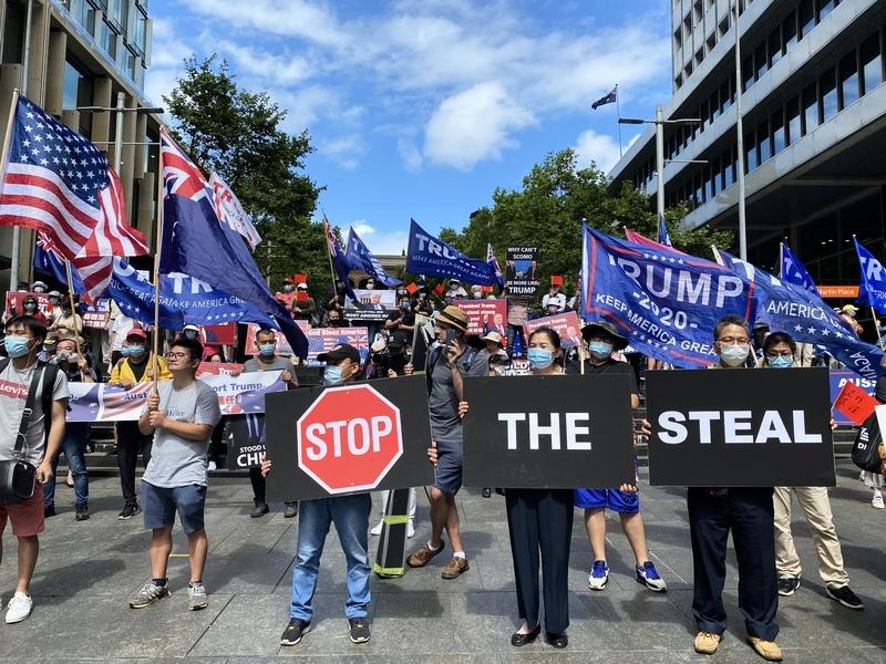 澳洲民眾挺特遊行集會 籲全球堅定反擊中共