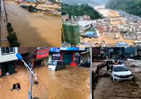 【現場影片】廣西百色降暴雨 那坡縣遭遇洪災