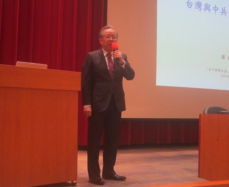 中華民國前財政部長、前駐WTO大使顏慶章表示,中國問題非常多形勢嚴峻,中共必然解體。(鍾元/大紀元)