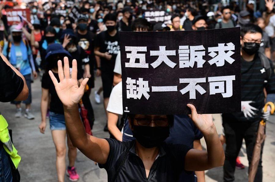 南韓明星金義聖現身香港街頭 撐反送中遊行