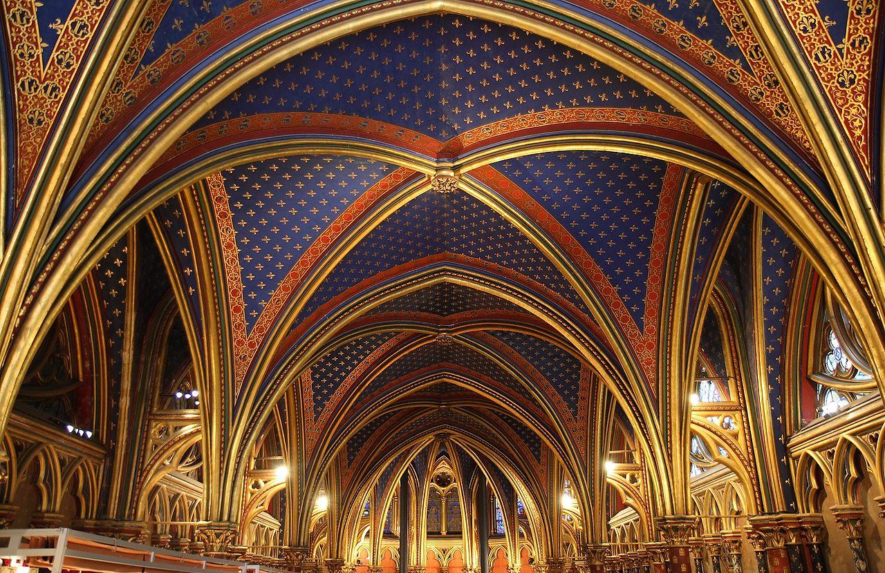 聖禮拜堂下層的拱頂。(Benh LIEU SONG/維基百科)