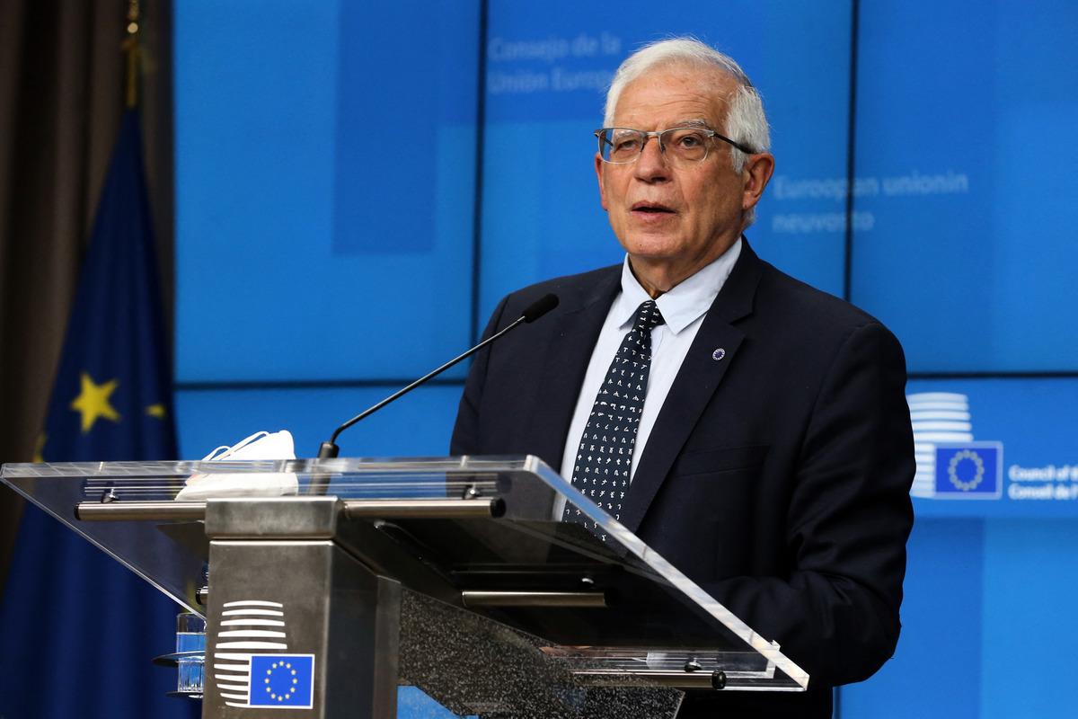 歐盟最高外交官博雷利(Josep Borrell)資料照。(FRANCOIS WALSCHAERTS/POOL/AFP via Getty Images)